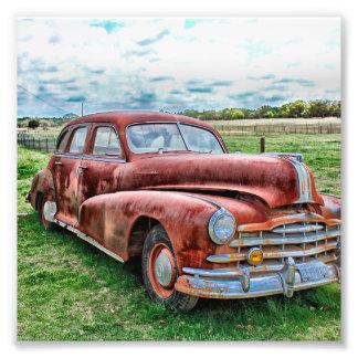 Rostigt för bil för vintage för fototryck