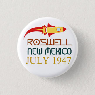 Roswell,New Mexico,july 1947 Mini Knapp Rund 3.2 Cm