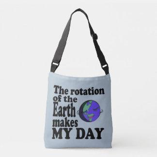 Rotationen av jorden gör min dag axelväska