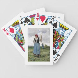 Roterande höet (olja på kanfas) spelkort