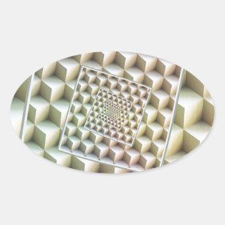 Roterande in i oändlighet ovalt klistermärke