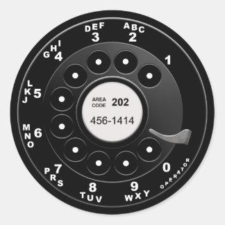 Roterande mobil visartavla runt klistermärke