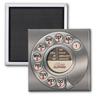 Roterande telefon för vintage magnet för kylskåp