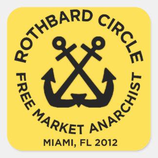rothbarden cirklar miami fyrkantigt klistermärke