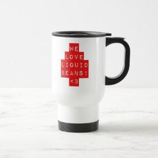 Rött ÄLSKAR VI VÄTSKEBÖNOR!! Resa kaffemuggen Rostfritt Stål Resemugg