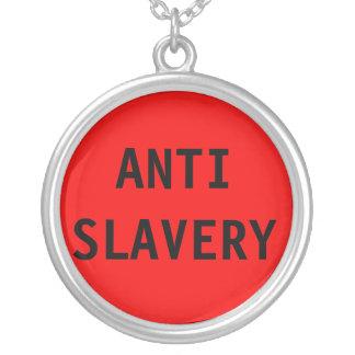 Rött Anti slaveri för halsband