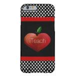 Rött Apple hjärtalärare fodral för iPhone 6 Barely There iPhone 6 Fodral