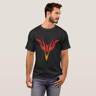 Rött att gulna den Firebird t-skjortan Tee