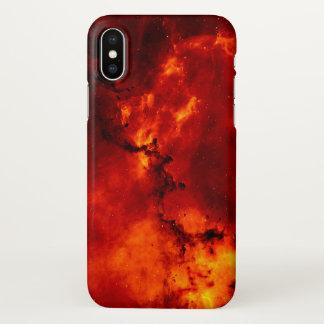 Rött avfyra fodral för galaxmönsteriPhone X
