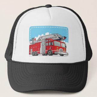Rött avfyra lastbilen eller avfyra motorn truckerkeps