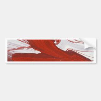 Rött band bildekal
