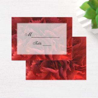 Rött blom- bröllopställekort visitkort