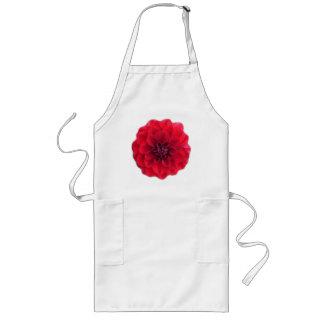 Rött blommaförkläde långt förkläde