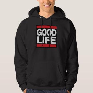 Rött bra liv sweatshirt med luva