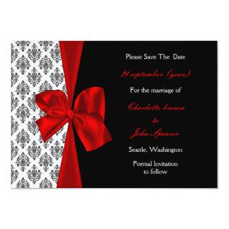 rött bröllop spara datummeddelande 12,7 x 17,8 cm inbjudningskort