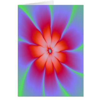 Rött daisykort hälsningskort