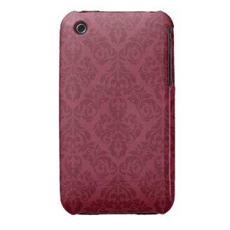 Rött damastast designblackberry curvefodral iPhone 3 Case-Mate fodral