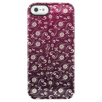 Rött dekorativt mönster clear iPhone SE/5/5s skal