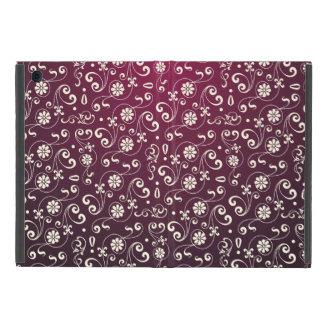 Rött dekorativt mönster iPad mini fodral