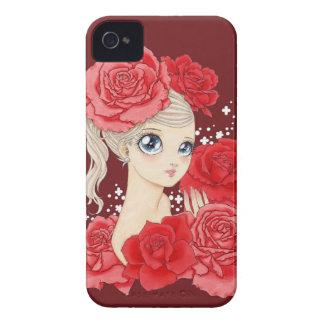 Rött/den röda kardinalen Fröcken rosa blackberry iPhone 4 Hud