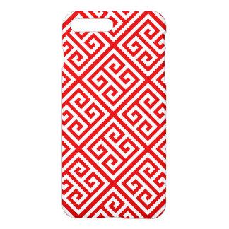 Rött Diag T för nyckel för vitMed-grek mönster #1 iPhone 7 Plus Skal