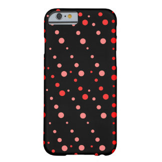 Rött dotty tappar barely there iPhone 6 fodral