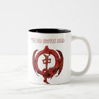 Rött drakemusikband Två-Tonad mugg