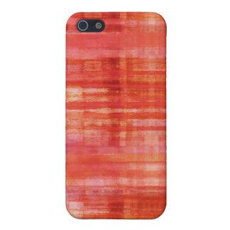 Rött färgkonstmönster iPhone 5 cases