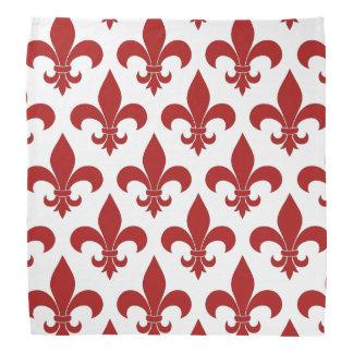 Rött Fleur de lis Fransk symbol Bandana