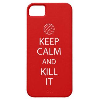 Rött fodral för iPhone 5 för behållalugnvolleyboll iPhone 5 Cases