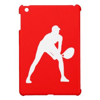 Rött fodral för kortkort för tennisSilhouetteiPad iPad Mini Mobil Fodral