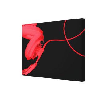 Rött foto för musik EDM för hus för Canvastryck