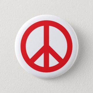 Rött fredsymbol - standard knapp rund 5.7 cm