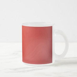 Rött Frostad Glasmugg