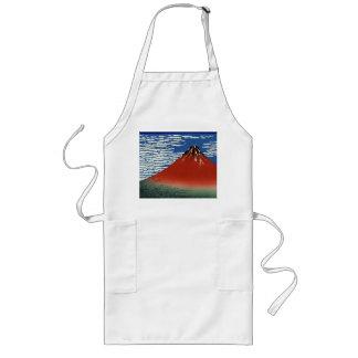 Rött Fuji (Mount Fuji i klart väder) långt Långt Förkläde