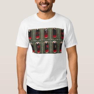 Rött gellock tee shirts