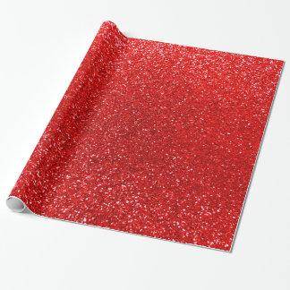 Rött glitter för neon presentpapper