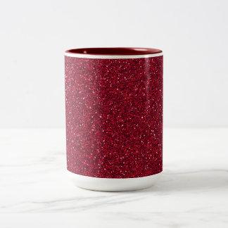 Rött glitter Två-Tonad mugg