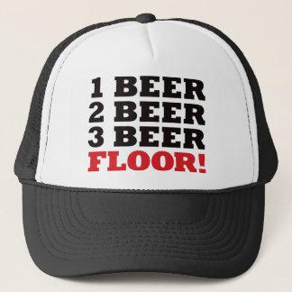Rött golv för 123 öl - keps