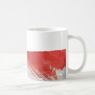 Rött grafiskt kaffemugg