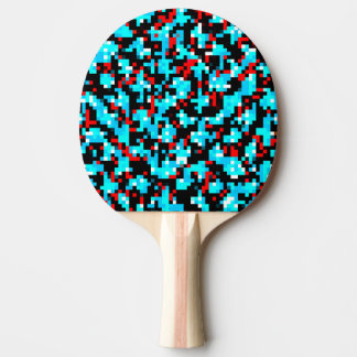 Rött grått PIXELmönster för svart blått Pingisracket