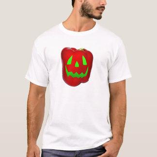 Rött grönt glöd sätta en klocka på Peppolantern T-shirts