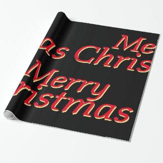 Rött & guld på svart god jul som slår in papper presentpapper
