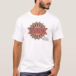 Rött & guld Stupefy grafiskt pass T-shirts