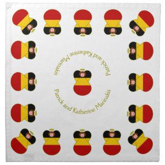 Rött hår för tysk ängelflagga tygservett