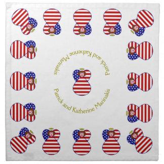 Rött hår för USA ängelflagga Tygservett