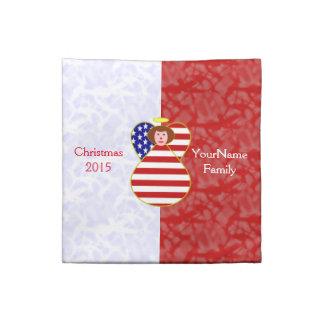 Rött hår för USA flaggaängel Tygservett