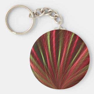 Rött Hav-gräs Keychain Rund Nyckelring