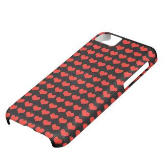 Rött hjärtamönster iPhone 5C fodral