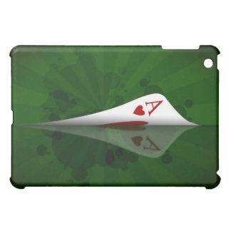Rött hjärtaöverdängarefodral iPad mini fodral